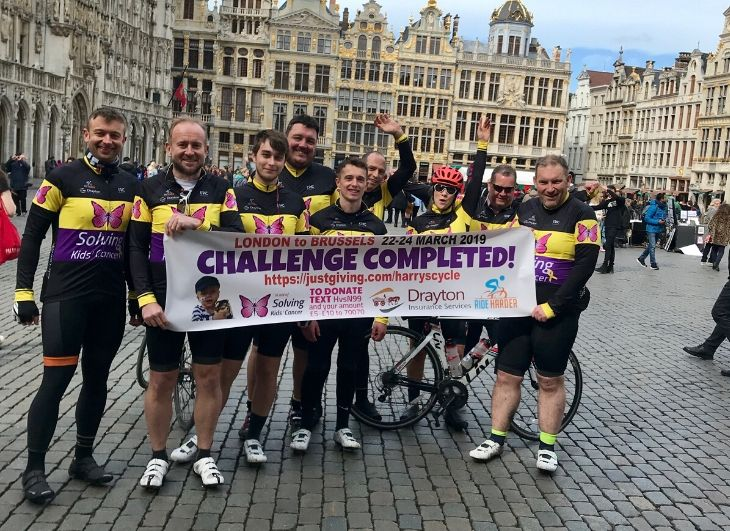 London to Brussels charity ride